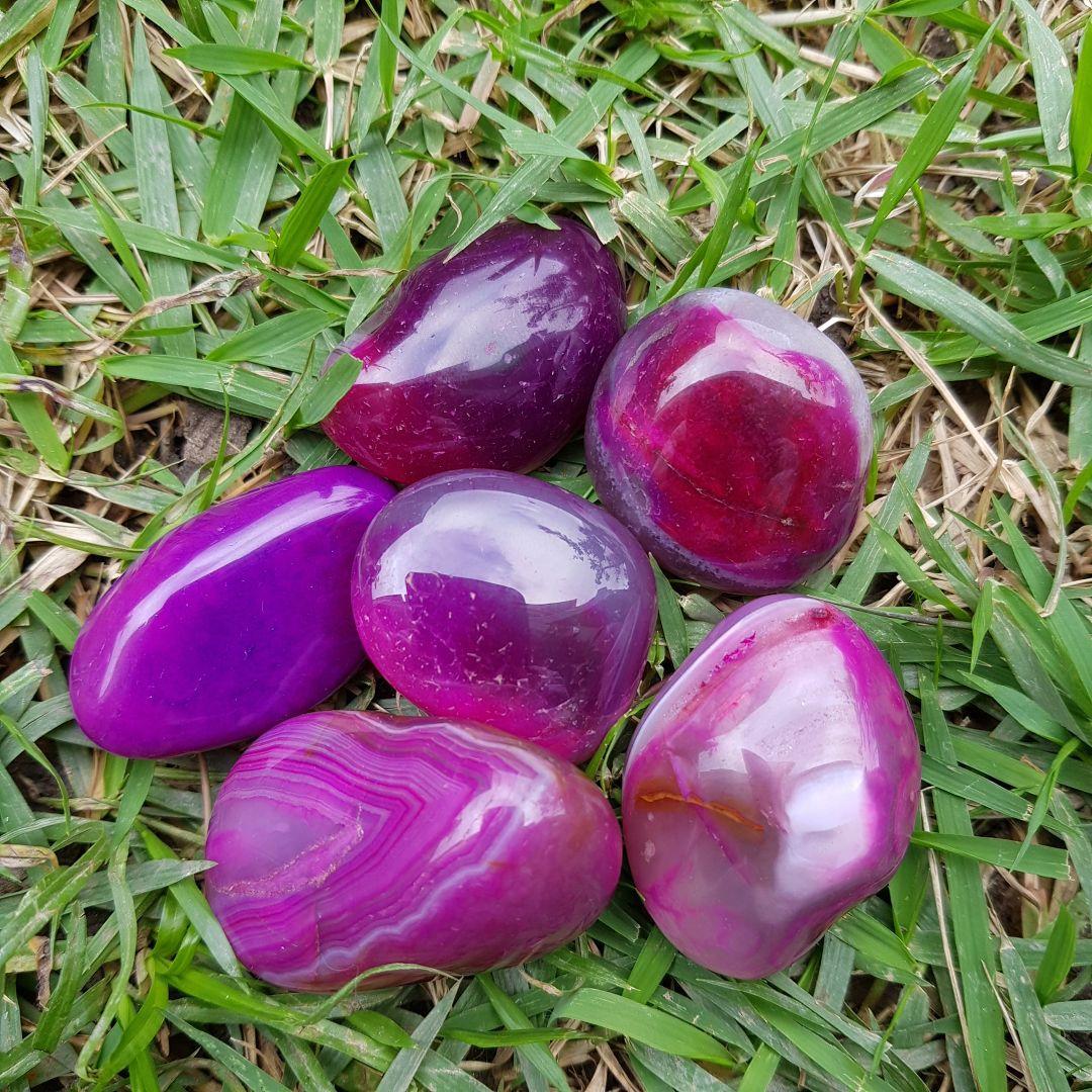 Cristal - Pedra Rolada - Ágata Rosa (Pacote com 100g)