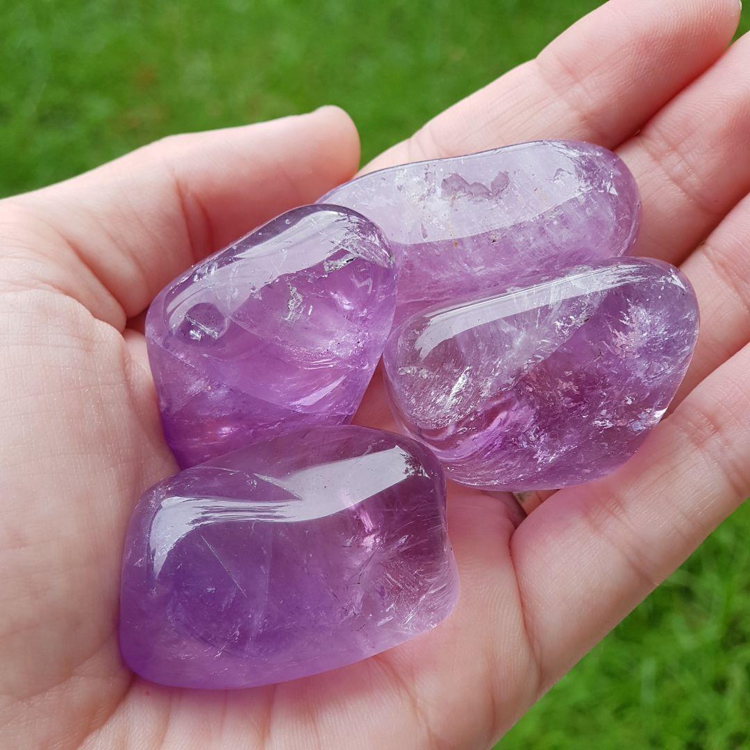 Cristal - Pedra Rolada - Ametista (Pacote com 100g)