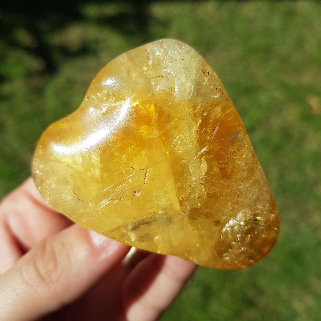 Cristal - Pedra Rolada Citrino Grande Poder Energético