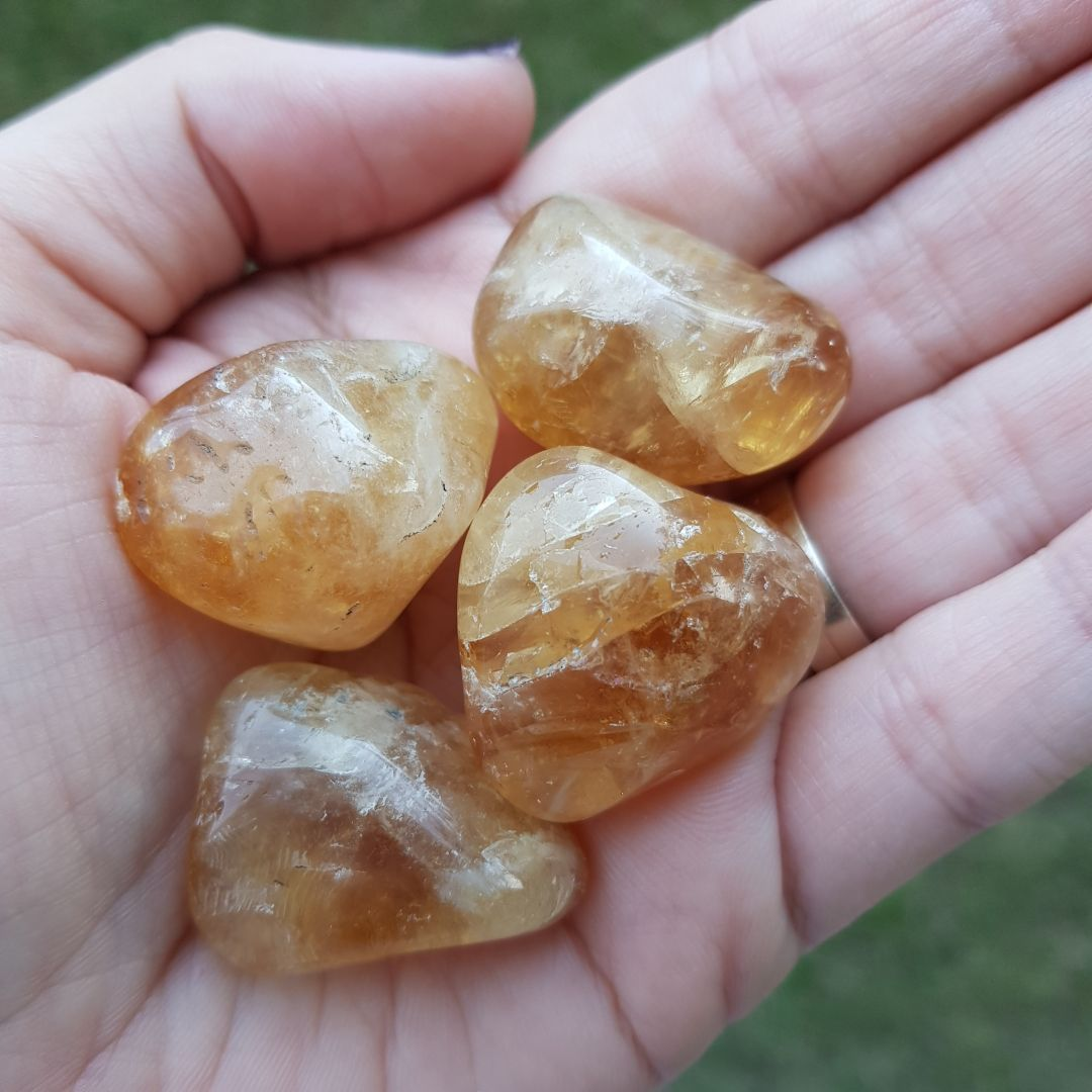 Cristal - Pedra Rolada - Citrino (Pacote com 100g)