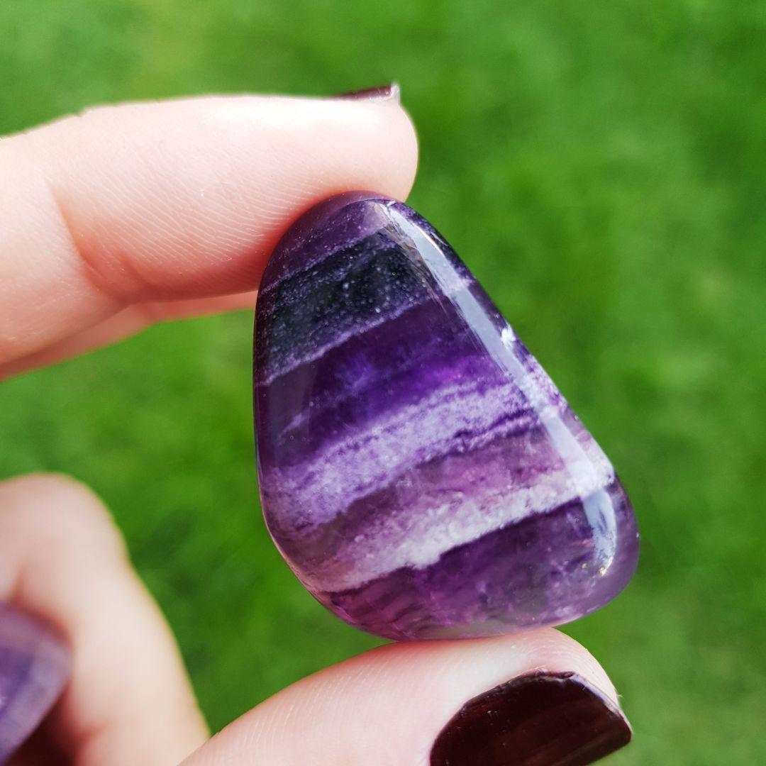 Cristal - Pedra Rolada - Fluorita Roxa (Pacote com 100g)
