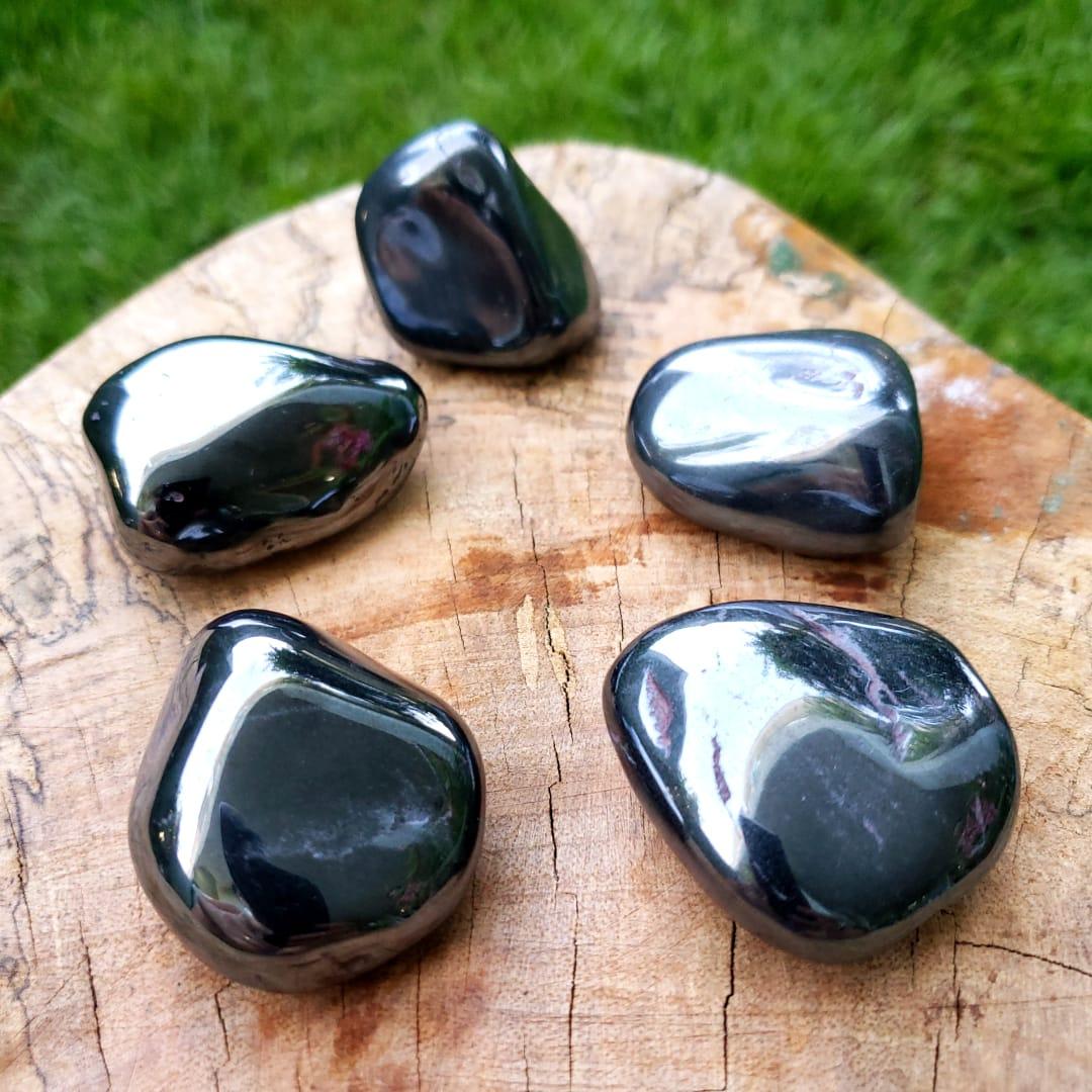 Cristal - Pedra Rolada - Hematita (Unidade)