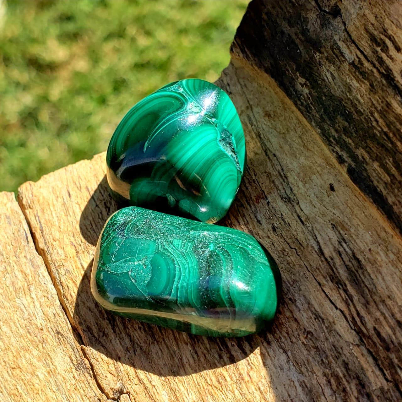 Cristal - Pedra Rolada - Malaquita