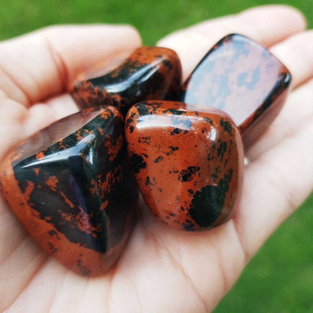 Cristal - Pedra Rolada - Obsidiana Marrom