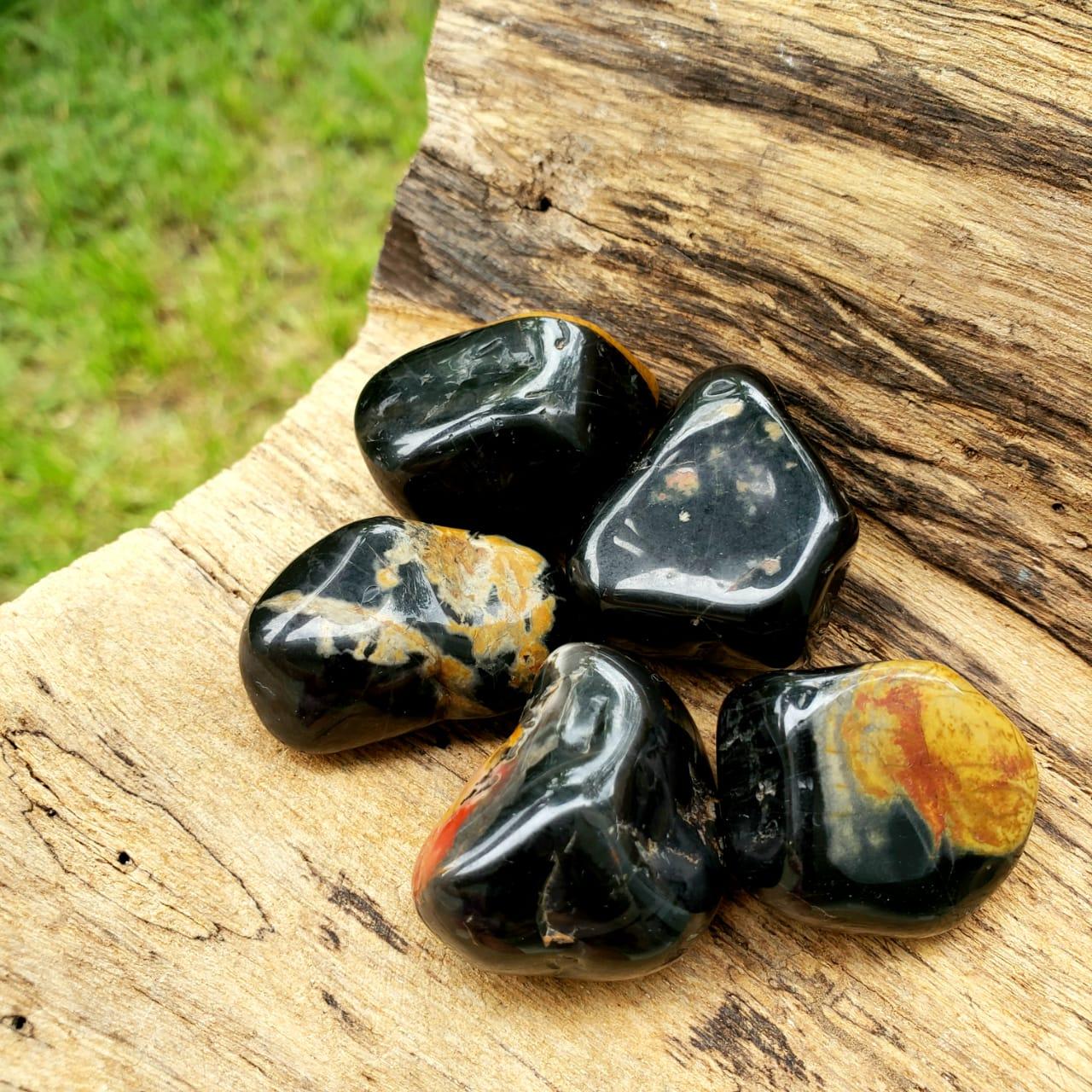 Cristal - Pedra Rolada - Ônix (Pacote com 100g)