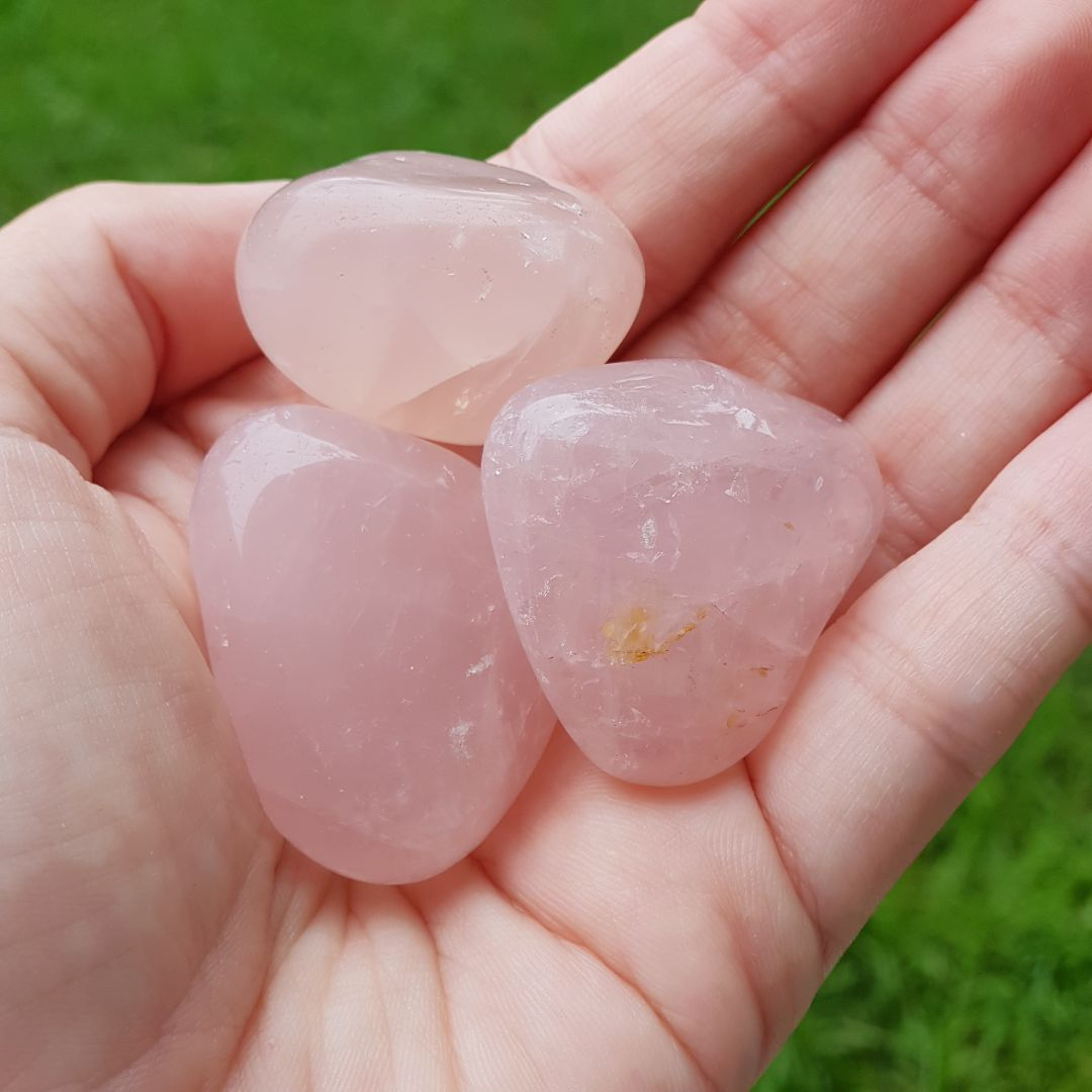 Cristal - Pedra Rolada - Quartzo Rosa (Pacote com 100g)