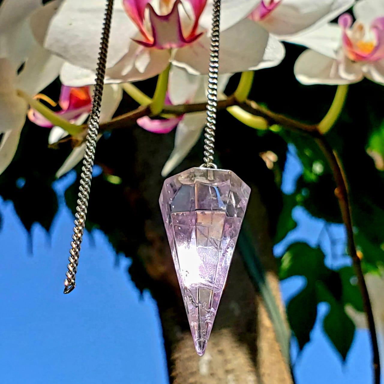 Cristal Pêndulo de Ametista
