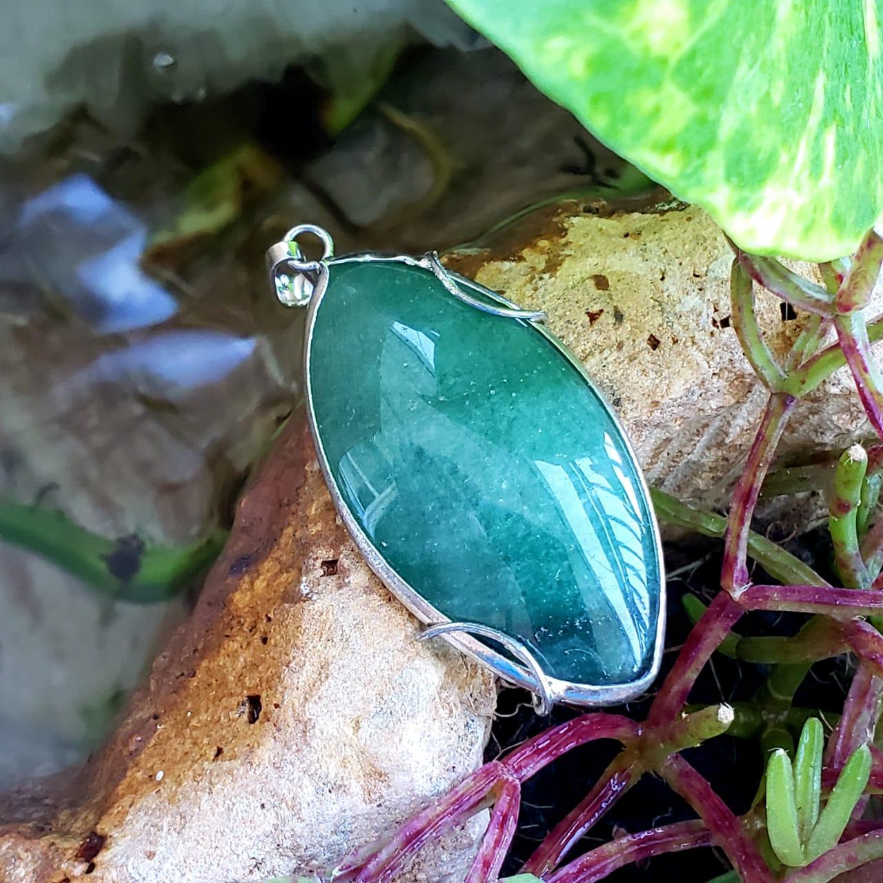 Cristal - Pingente - Quartzo Verde