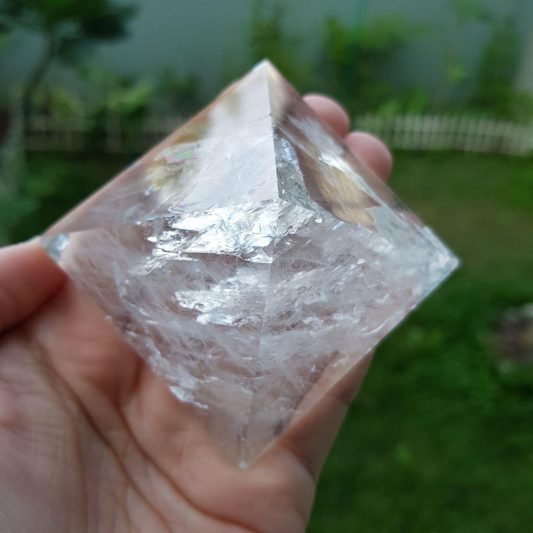 Cristal - Pirâmide - Quartzo Branco