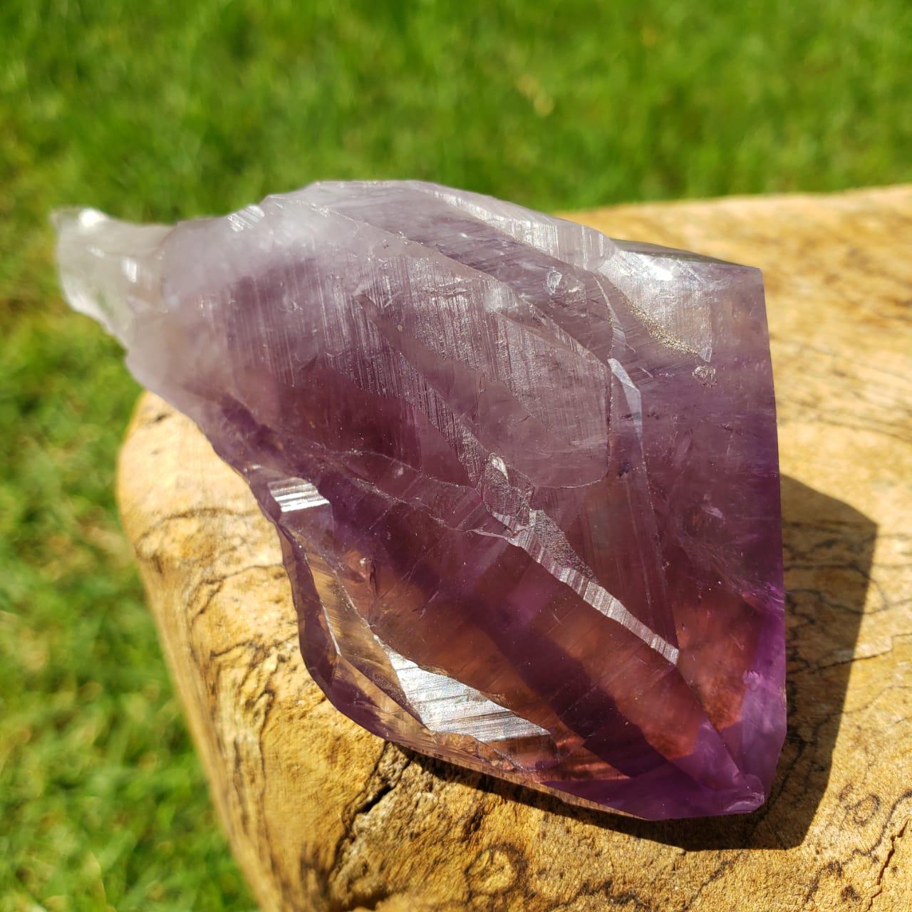Cristal - Ponta - Ametista - Transmutação Energética