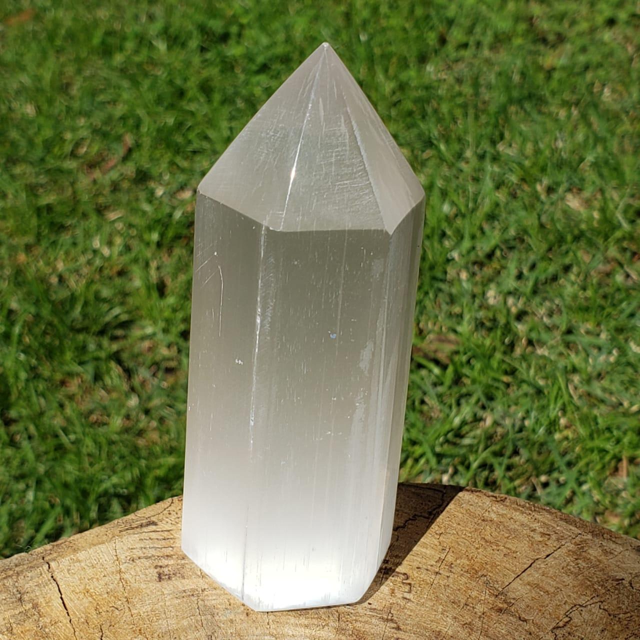 Cristal - Ponta de Selenita Geradora de Energia
