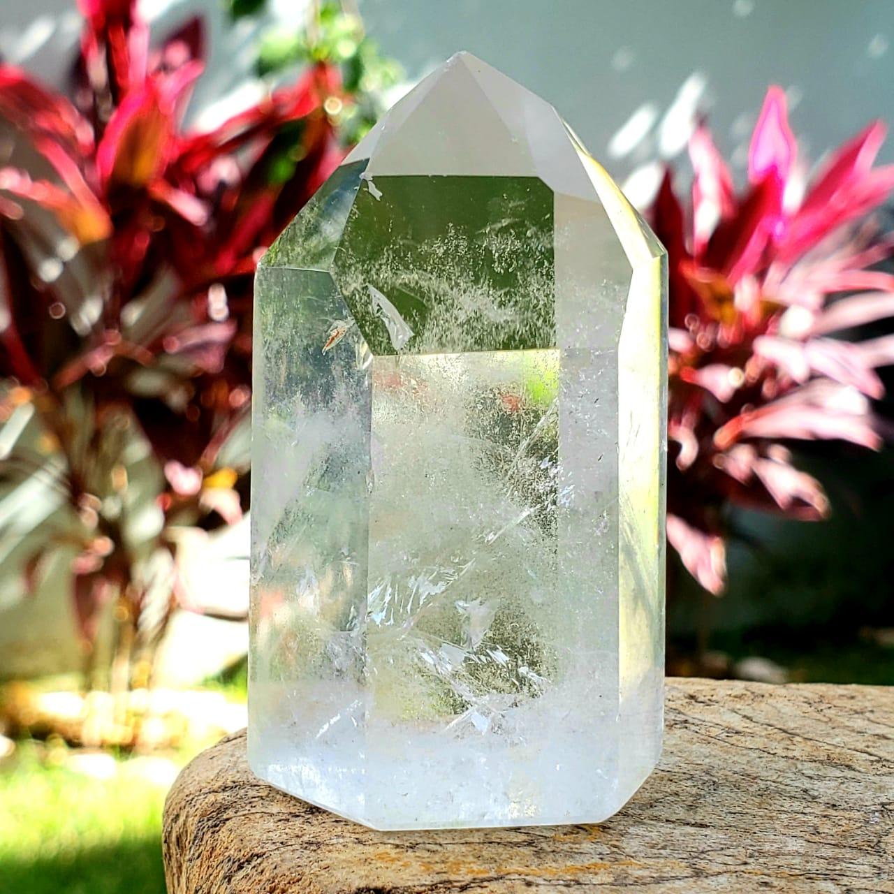 Cristal - Ponta - Quartzo Branco Lapidada
