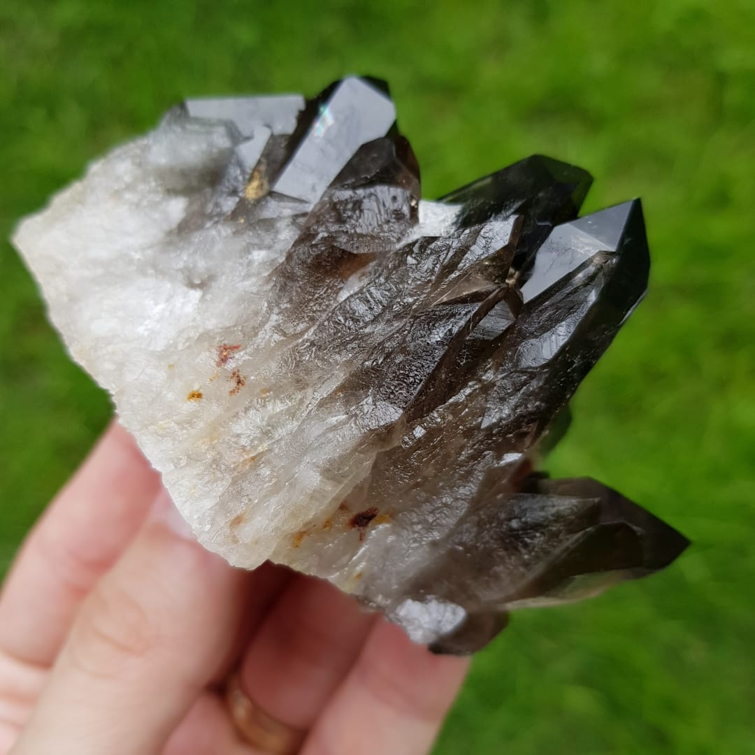 Cristal - Ponta - Quartzo Fumê Grande Energia e Pureza