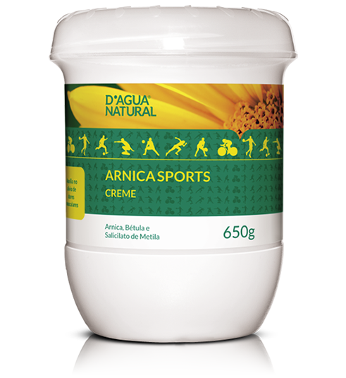 D'água Natural - Arnica Sports Creme - 650g