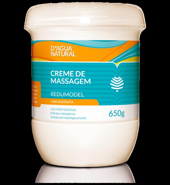 D'água Natural - Creme de Massagem Redumodel com Oligovita - 650g