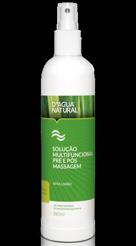 D'água Natural - Kit Creme de Massagem Pimenta Negra 650g + Solução Multifuncional Erva Limão Pré e Pós Massagem 380ml