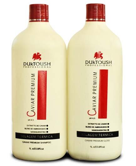 Duktoush - Kit Duo Caviar Premium - Selagem Térmica - Redução de Volume e Restauração