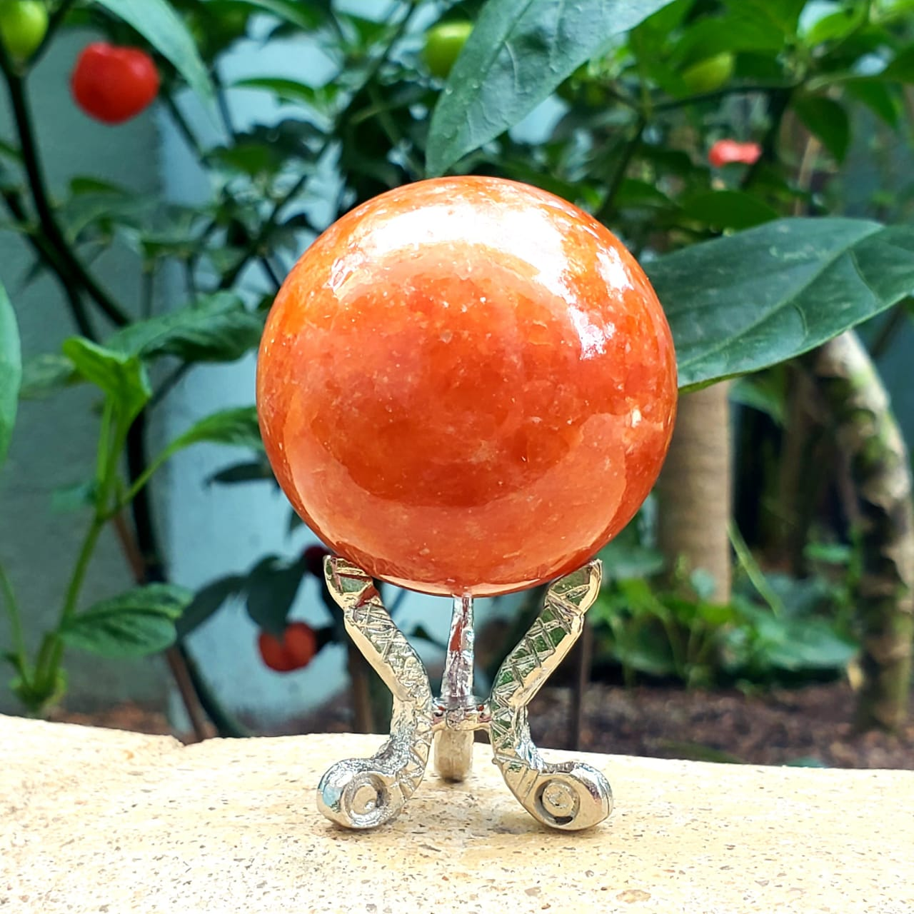 Esfera de Calcita laranja