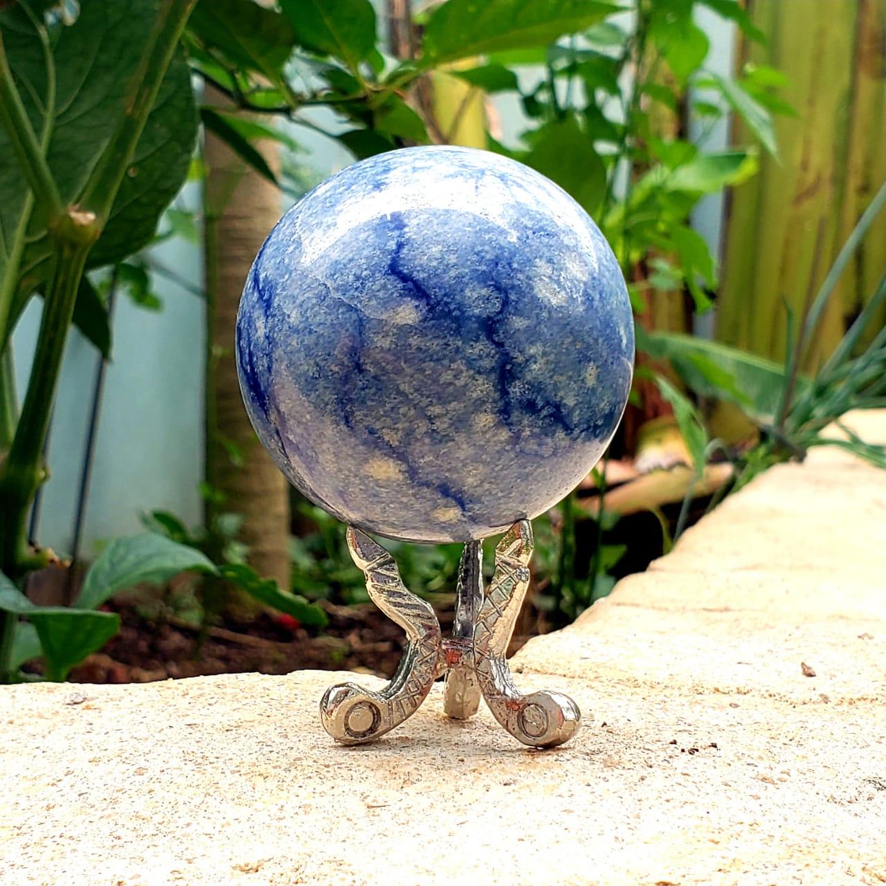 Esfera de Quartzo Azul