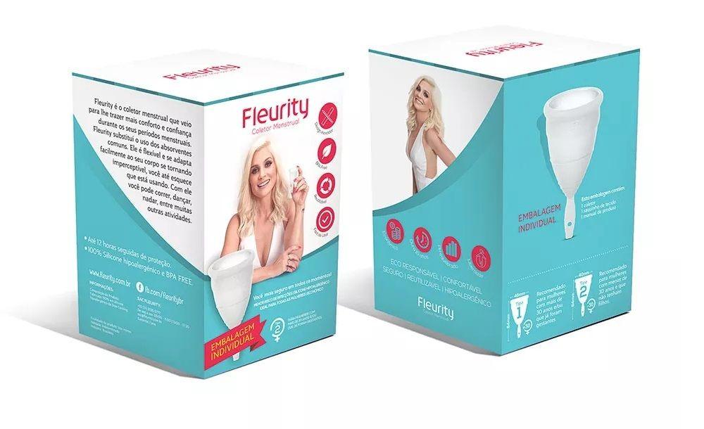 Fleurity - Coletor Menstrual - FLÁVIA ALESSANDRA - Tipo 1 Sem Pigmento 1 Unidade