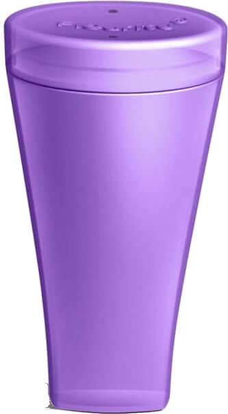 Fleurity - Coletor Menstrual  - TIPO 1 (2 UNIDADES) + Fleurity - Porta Coletor e Esterilizador - Roxo