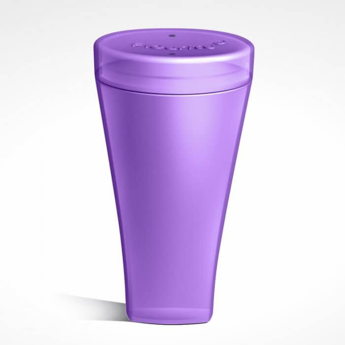 Fleurity - Coletor Menstrual  - TIPO 2 (2 UNIDADES) + Fleurity - Porta Coletor e Esterilizador - Roxo