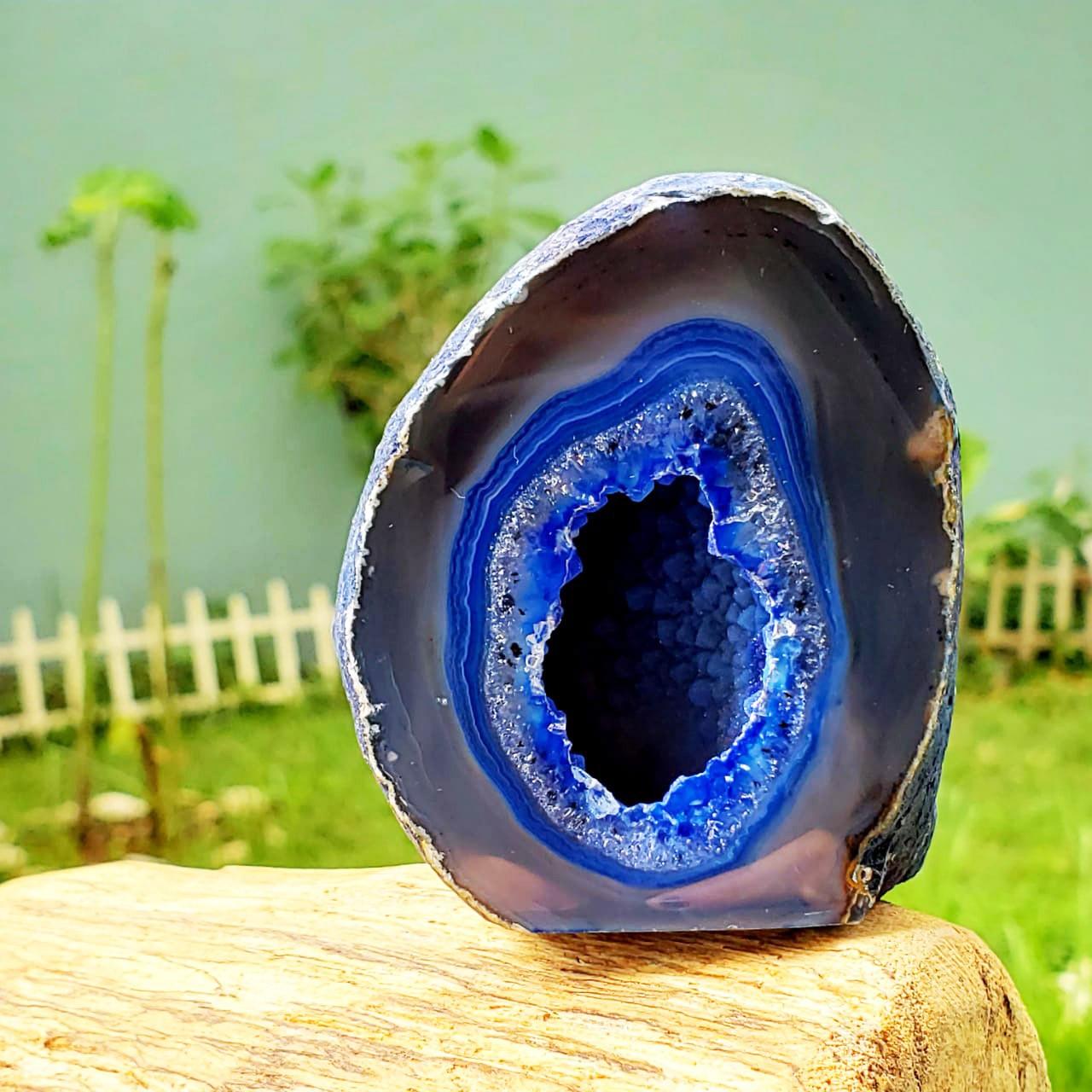 Geodo de Ágata Azul Pedra da Intuição