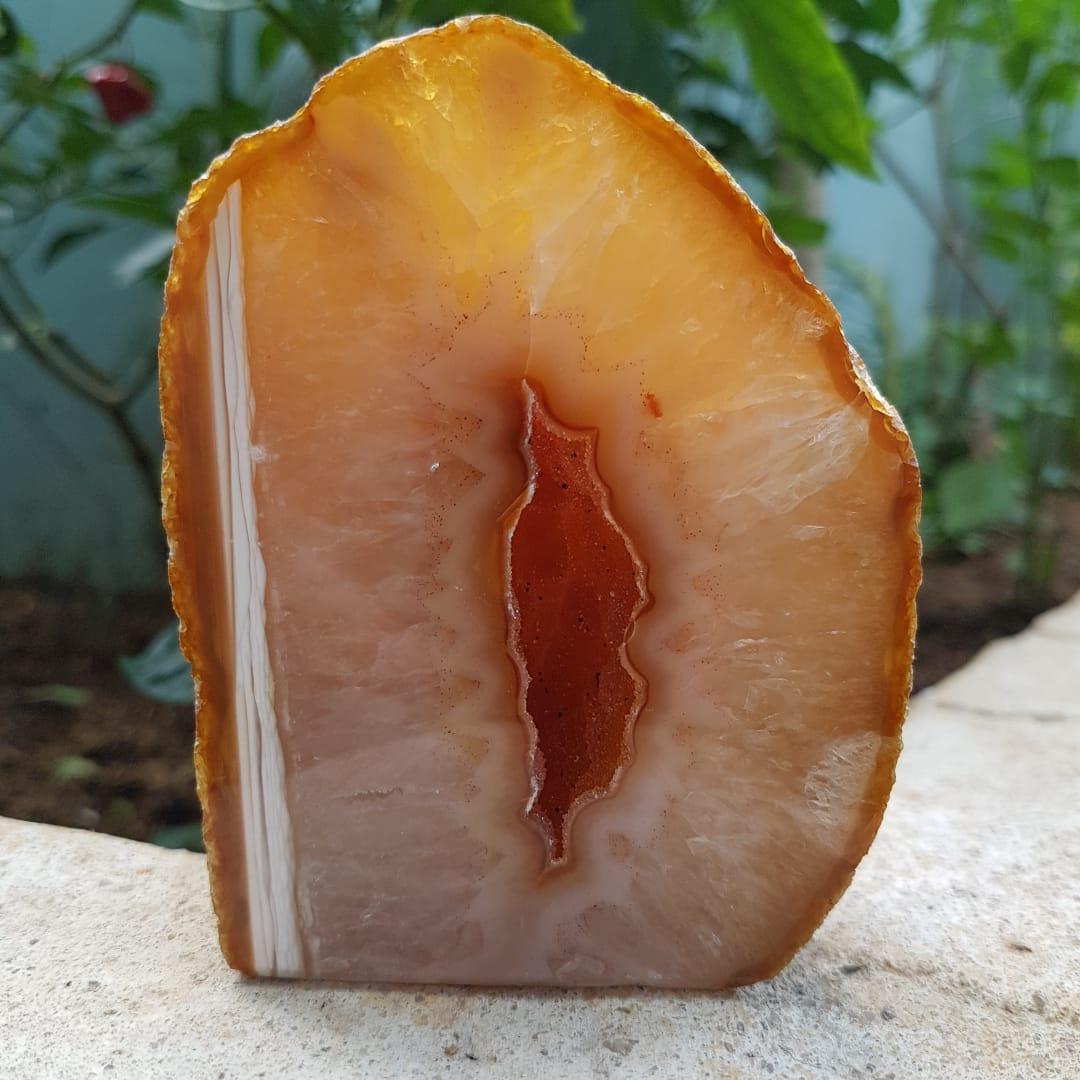 Geodo Pedra Ágata Natural