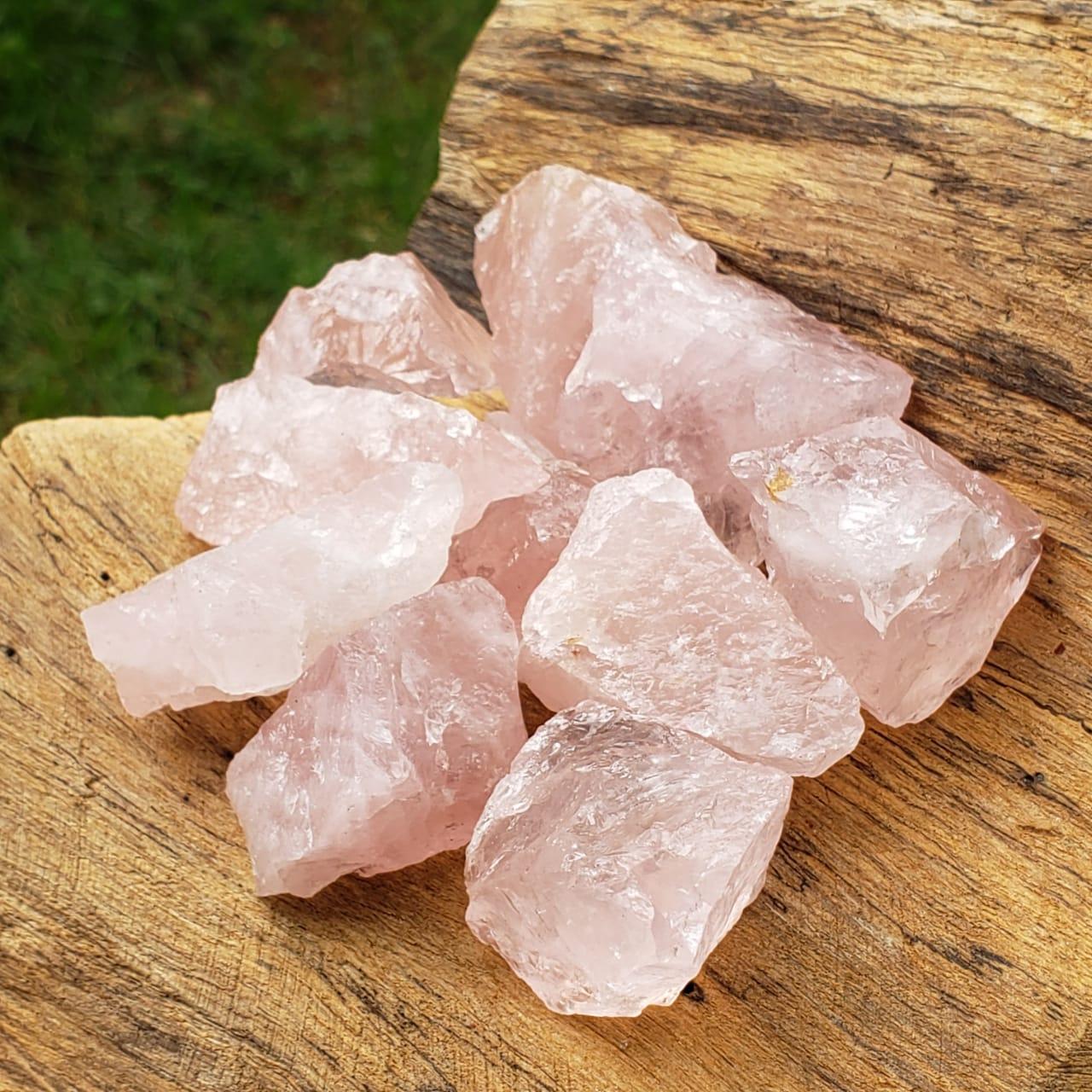 Kit Quartzo Rosa Bruto Pedra do Amor
