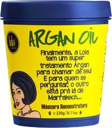 Lola Cosmetics - Argan Oil e Pracaxi - Máscara Reconstrutora - 230g