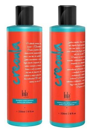 Lola Cosmetics - Creoula - Kit Duo Cachos Perfeitos - Shampoo 230ml + Condicionador 230ml