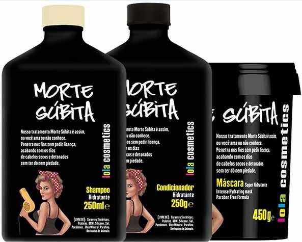 Lola Cosmetics - Morte Súbita - Kit Trio - Shampoo 250ml + Condicionador 250g + Máscara 450g