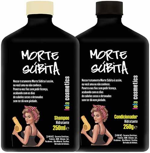 Lola Cosmetics - Morte Súbita - Kit Duo - Shampoo Hidratante 250ml + Condicionador Hidratante 250g