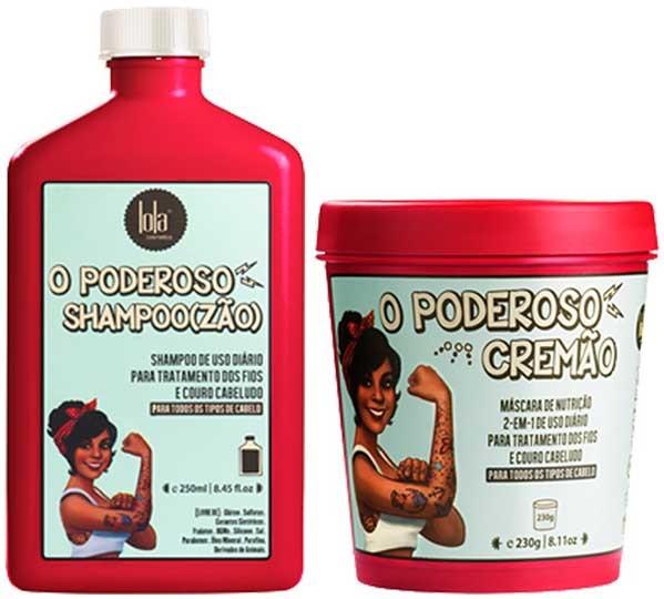 Lola Cosmetics - Kit O Poderoso -  Shampoozão 250ml + Cremão 230g