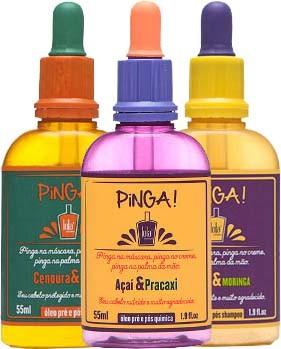 Lola Cosmetics - Kit Pinga - Cenoura & Oliva 55ml + Patuá & Moringa 55ml + Açaí & Pracaxi 55ml