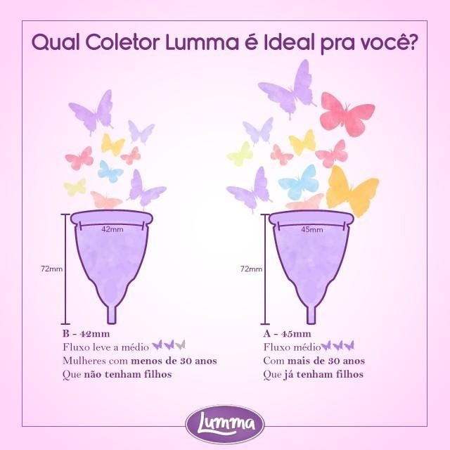 Lumma - Coletor Menstrual - Free Cup - Kit DUO - Tamanho A