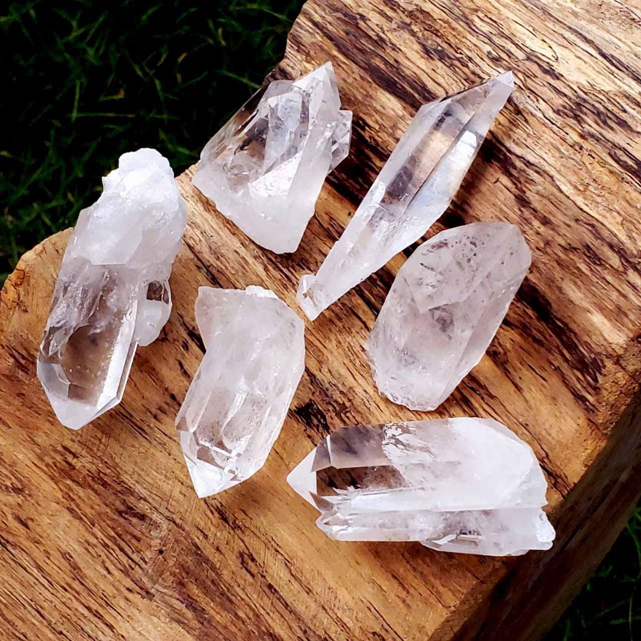 Mini Pontas de Cristal Branco