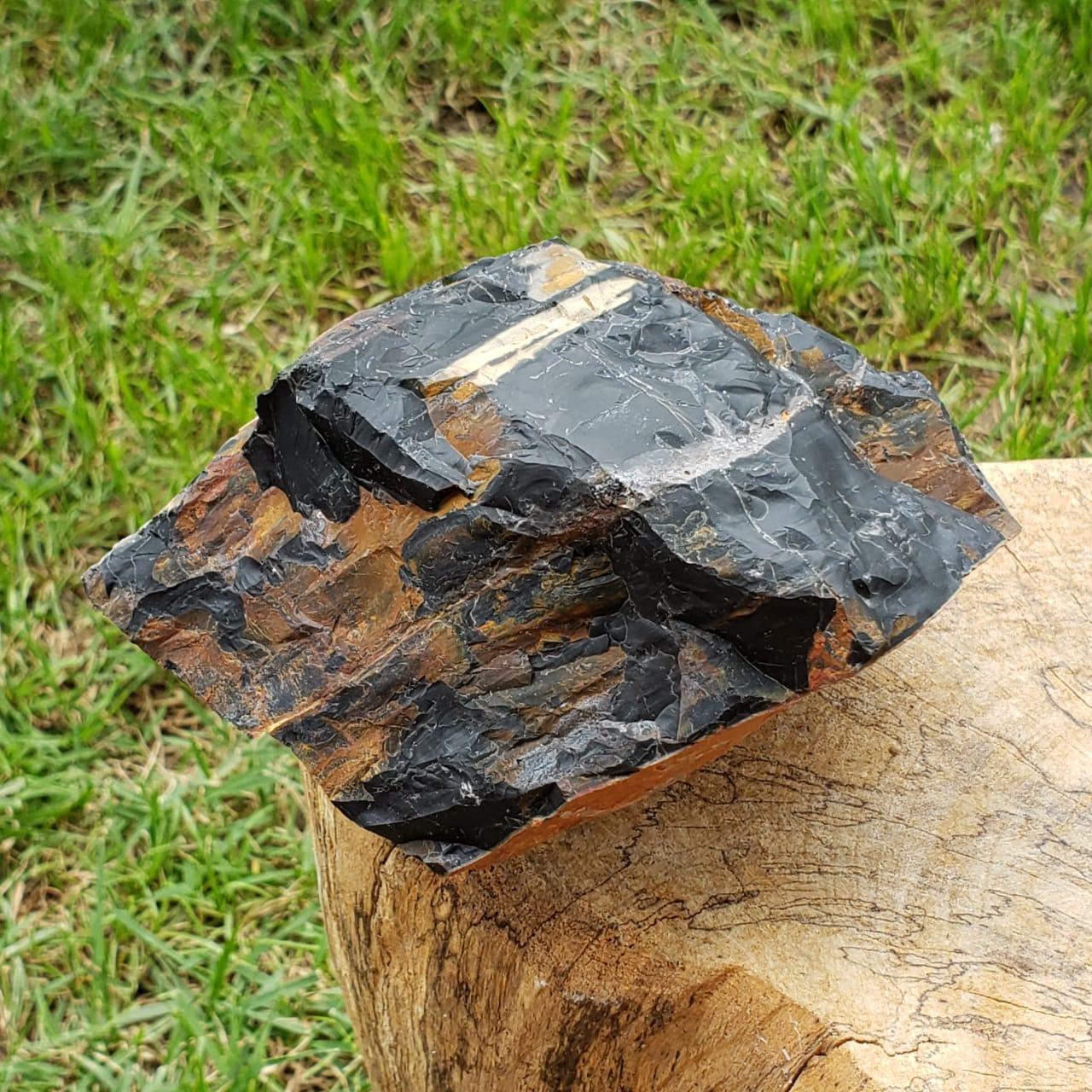 Ônix Grande Pedra Bruta de Proteção