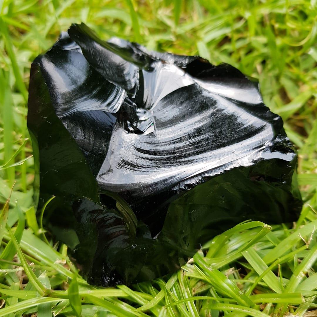 Pedra Bruta - Obsidiana Negra - Proteção