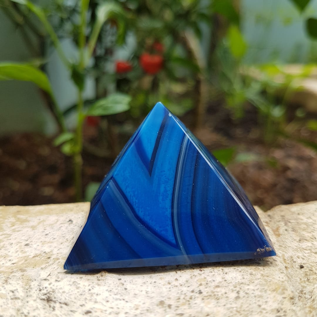 Pirâmide de  Ágata Azul
