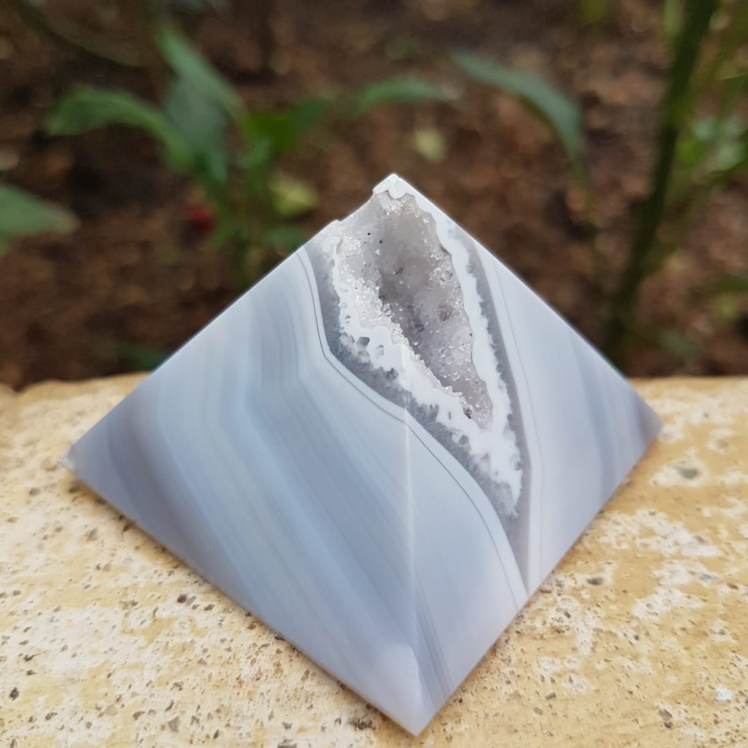 Pirâmide de Ágata Natural