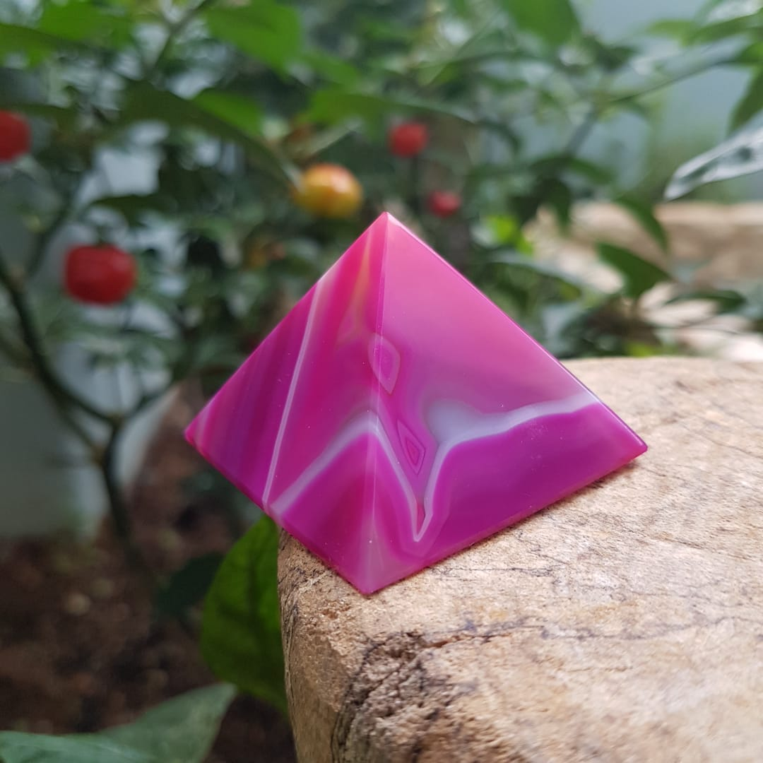Pirâmide de Ágata Rosa