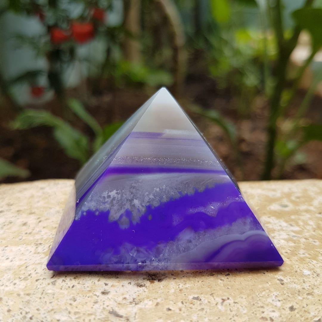 Pirâmide de Ágata Roxa
