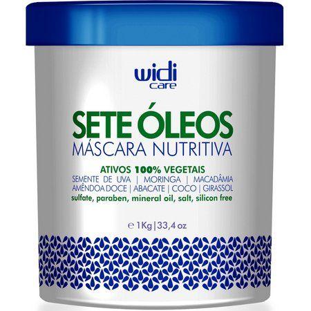 Widi Care - Sete Óleos - Máscara Nutritiva - Ativos 100% Vegetais - 1kg