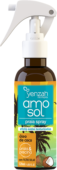 Yenzah - kit AMO SOL - Máscara 300g + Spray 120ml + Leave-in 240ml - Com Filtro Solar