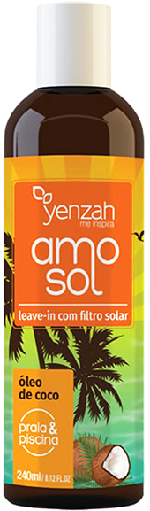 Yenzah - Creme Leave-in AMO Sol - Termoativado - Com Filtro Solar - 240ml