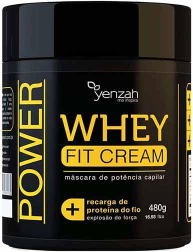 Yenzah - Máscara Whey Fit Cream Power - Recarga de Proteína - 480g
