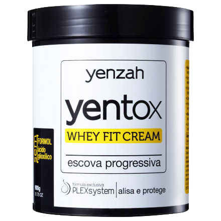 Yenzah - Whey Fit Cream - Yentox - Escova Progressiva - 900g
