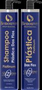 Escova Progressiva Plástica Capilar Botox Bzero Matizadora Benouver Profissional 2x1000m