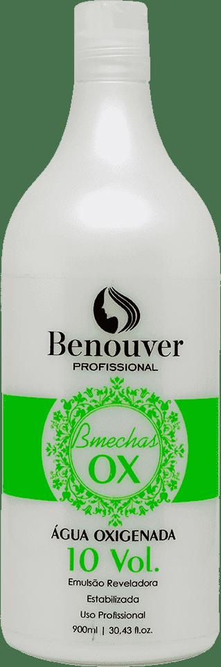 Água Oxigenada Cremosa 10 Volumes Bmechas Benouver Profissional 900ml  - Benouver Profissional